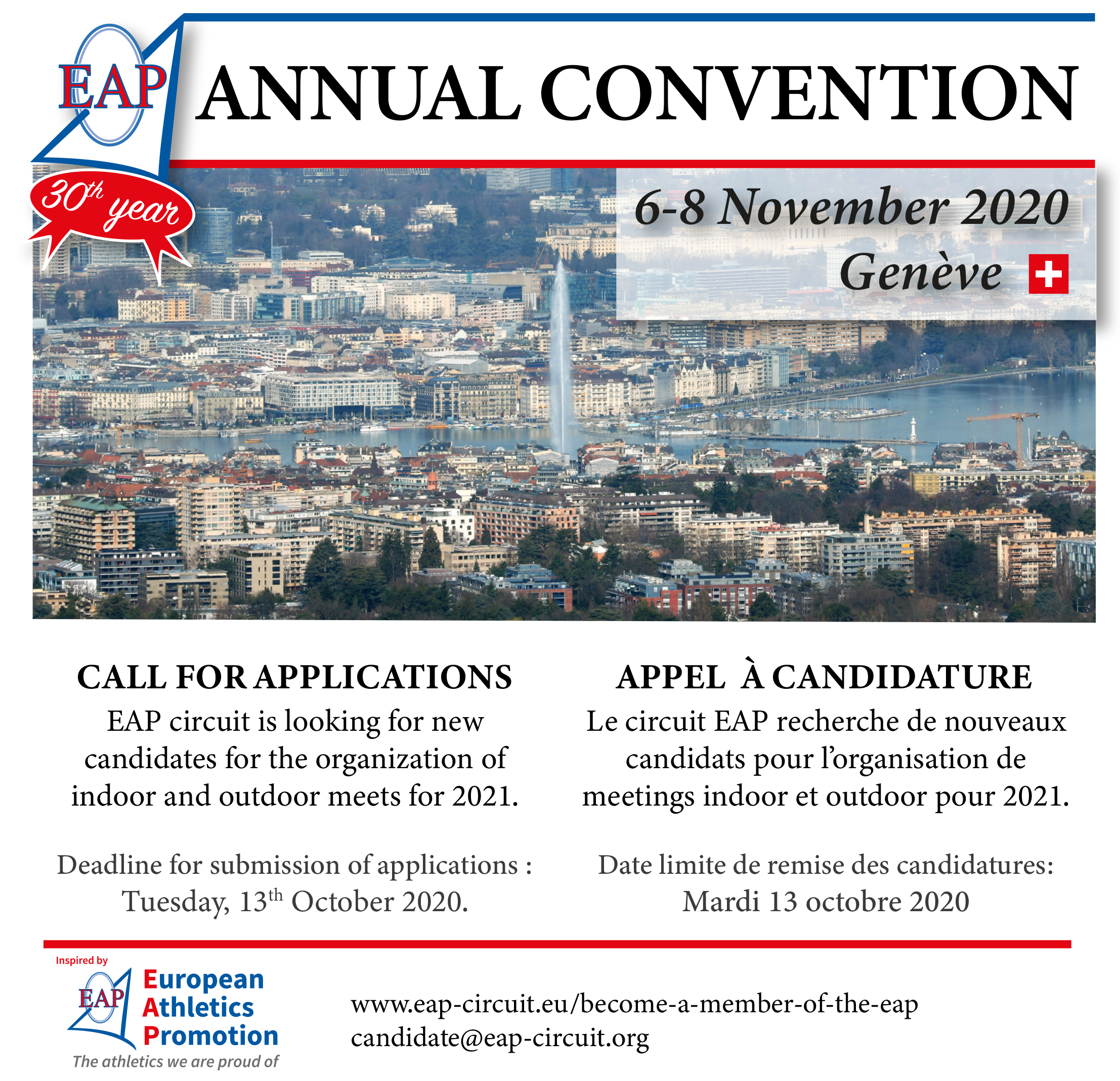 Apply for membership and Register to the Annual Convention.